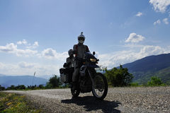 Adventure motorcycling travel Royalty Free Stock Images