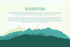 Adventure. Mountain background landscape, hills silhouette Royalty Free Stock Photos