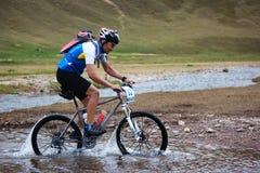 Adventure mountain bike competition Stock Photos