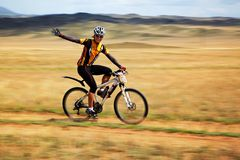 Adventure mountain bike competition Stock Photo