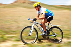 Adventure mountain bike competition Stock Image
