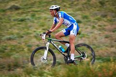 Adventure mountain bike competition Stock Photography