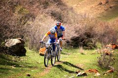 Adventure  mountain bike competition Royalty Free Stock Photo