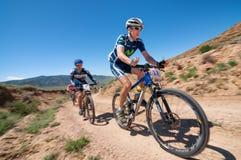 Adventure mountain bike cross-country marathon Stock Photos