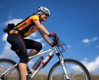 Adventure mountain bike cross-country marathon Royalty Free Stock Photo