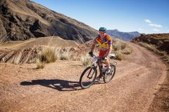 Adventure mountain bike cross-country marathon Stock Images