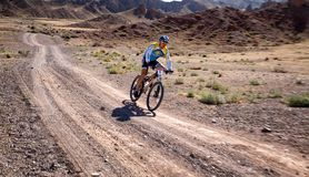 Adventure mountain bike cross-country marathon Royalty Free Stock Photos
