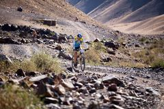Adventure mountain bike cross-country marathon Royalty Free Stock Images