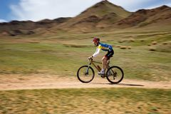 Adventure mountain bike cross-country marathon Royalty Free Stock Image