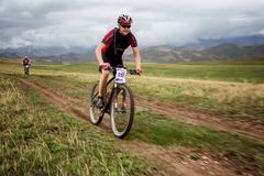 Adventure mountain bike cross-country marathon Royalty Free Stock Photography