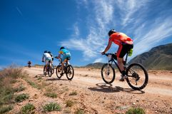 Adventure mountain bike cross-country marathon Stock Image
