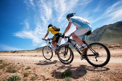 Adventure mountain bike cross-country marathon Stock Photography
