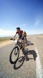 Adventure mountain bike maranthon in desert Stock Images