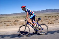 Adventure mountain bike  marathon in desert Royalty Free Stock Image