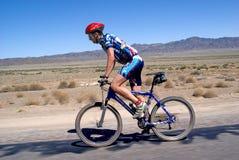 Adventure mountain bike marathon in desert royalty free stock image