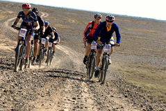 Adventure mountain bike  marathon in desert Stock Image