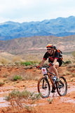 Adventure mountain bike  marathon in desert Royalty Free Stock Photos