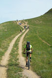Adventure mountain biking Stock Image