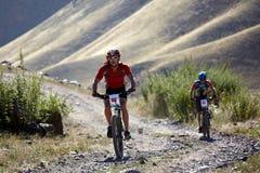 Adventure mountain bile competition Stock Photo