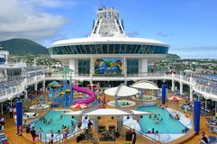 Free Adventure Of The Seas Cruise Ship Pool Deck Royalty Free Stock Image - 121209386
