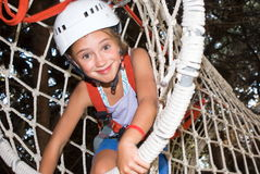Adventure park. Child in an adventure park Royalty Free Stock Photos