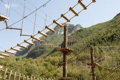 Adventure park. In a wonderfull umbria valley close to scheggino Stock Images