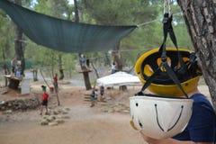 Adventure park activities camp. Adventure activities zone for kids royalty free stock photos