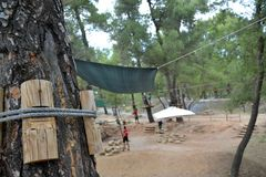 Adventure park activities zone royalty free stock image