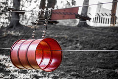 Adventure park barrel Royalty Free Stock Images