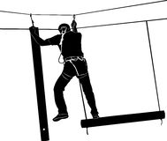 Adventure park rope ladder Stock Photos