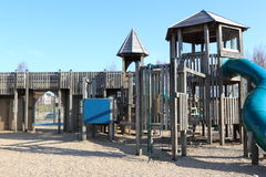Adventure Playground. In the early morning Blue sky Royalty Free Stock Photo