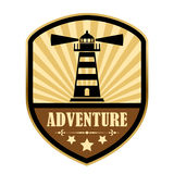 Adventure retro label Stock Photography