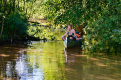 Adventure on river Royalty Free Stock Images