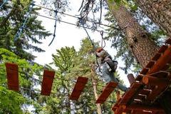 Adventure rope park Stock Photo