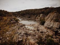 Adventure's Payoff. Taken at Great Falls Park, Maryland Stock Photo