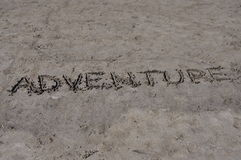 Adventure on sand Stock Photos