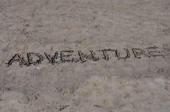 Adventure on sand stock photos