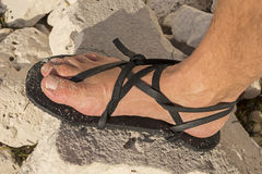 Adventure sandals Royalty Free Stock Image
