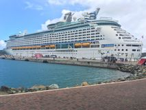 Adventure of the Seas cruise ship. In St.Thomas, US Virgin Islands Stock Images