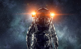 Adventure of spaceman. Mixed media Royalty Free Stock Photo