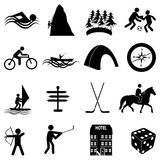 Adventure sports icons set Royalty Free Stock Image