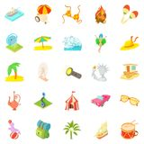 Adventure time icons set, cartoon style. Adventure time icons set. Cartoon set of 25 adventure time icons for web isolated on white background Royalty Free Stock Image
