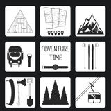 Adventure Time. Set icon. Royalty Free Stock Images