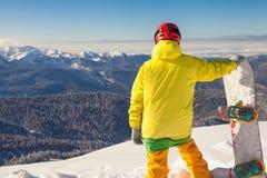 Adventure to winter sport. Snowboarder girl Stock Photos