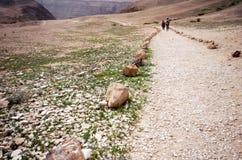Adventure trail in the desert Stock Photo