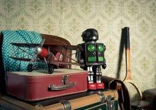 Adventure travel equipment Royalty Free Stock Image