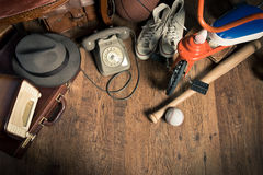 Adventure travel equipment Royalty Free Stock Images