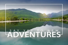 Adventure Travel Nature Concept Royalty Free Stock Photos