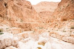 Adventure travel in stone desert of Middle East Royalty Free Stock Photography