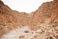 Adventure travel in stone desert of Middle East Stock Photos